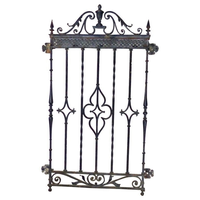 Antique Cast Iron Window Grate from New York City For Sale