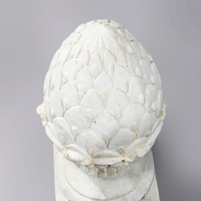 Antique Cast Stone Acorn Form Finial Garden Ornaments, 20th Century For Sale 3