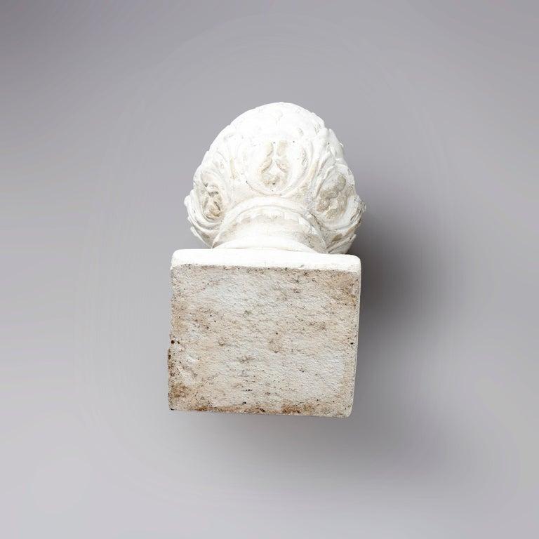 Antique Cast Stone Acorn Form Finial Garden Ornaments, 20th Century For Sale 4