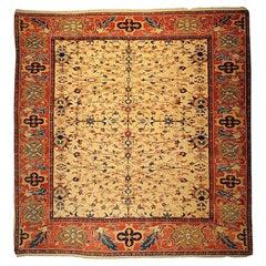 Antique Caucas Armenia Leshghi Hand Knotted Wool Rug, circa 2000