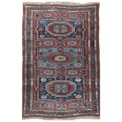 Antique Caucasian Flat-Weave Soumak, circa 1900, 6'7 x 9'11