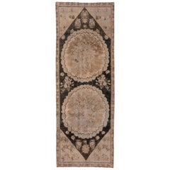 Antique Caucasian Karabagh Gallery Rug with Earth Tones