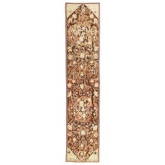 Antique Caucasian Karabagh Hallway Runner Rug. Size: 3 ft 11 in x 18 ft 8 in