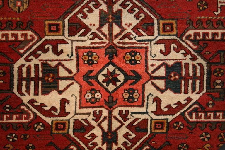 Kazak Antique Caucasian Karabagh Kasim Ushag Large Geometric Rug For Sale