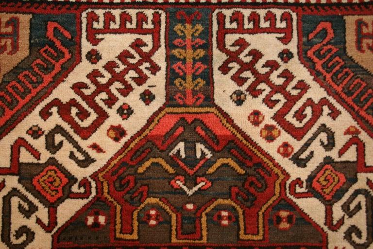 Armenian Antique Caucasian Karabagh Kasim Ushag Large Geometric Rug For Sale