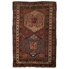 Antique Caucasian Kazak Rug, circa 1900
