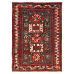 Antique Caucasian Kazak Rug. Size: 5 ft 4 in x 7 ft (1.63 m x 2.13 m)