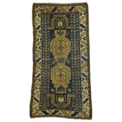 Antique Caucasian Kazak Rug with Artisan Tribal Style
