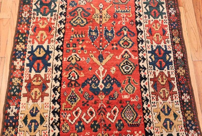 19th Century Antique Caucasian Kazak Runner. Size: 4 ft 1 in x 10 ft (1.24 m x 3.05 m) For Sale