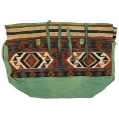 Antique Caucasian Kilim Bag, Tribal Bohemian Bag
