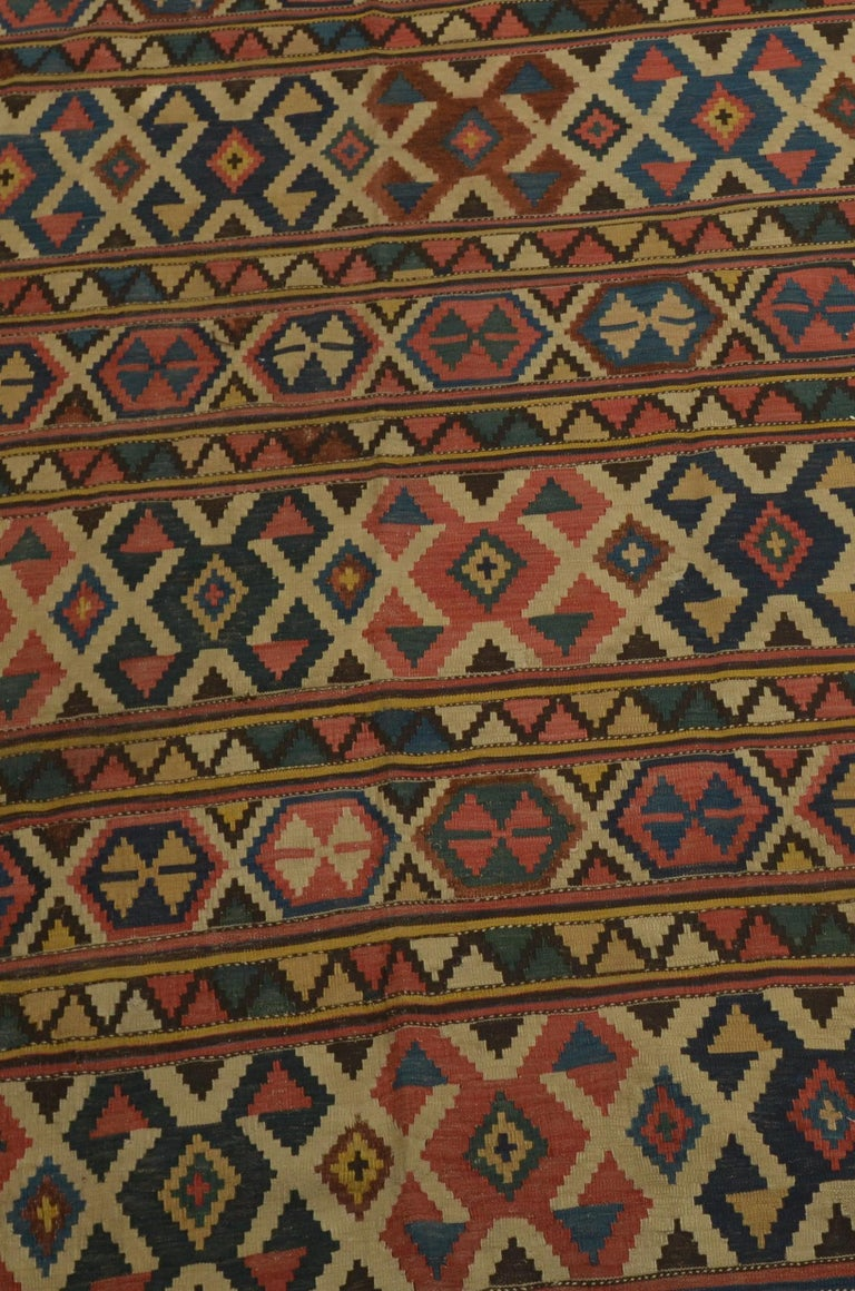 Antique Caucasian Kilim In Excellent Condition For Sale In East Hampton, NY