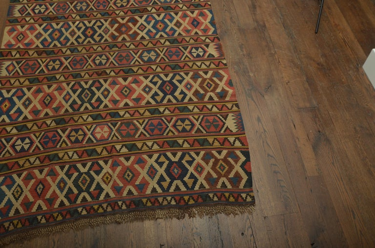 20th Century Antique Caucasian Kilim For Sale