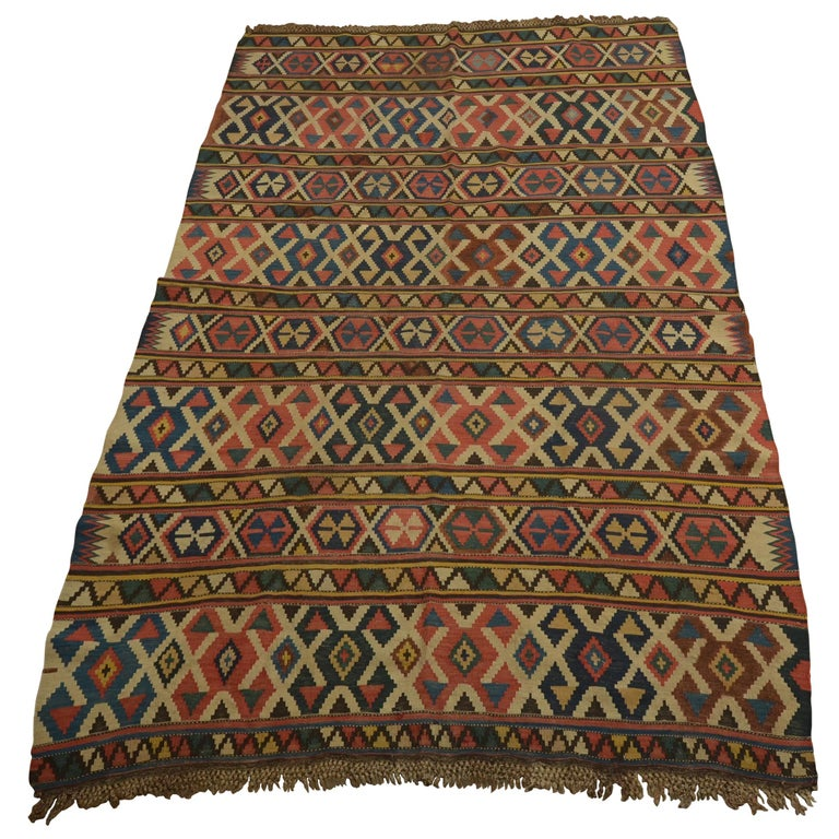 Antique Caucasian Kilim For Sale