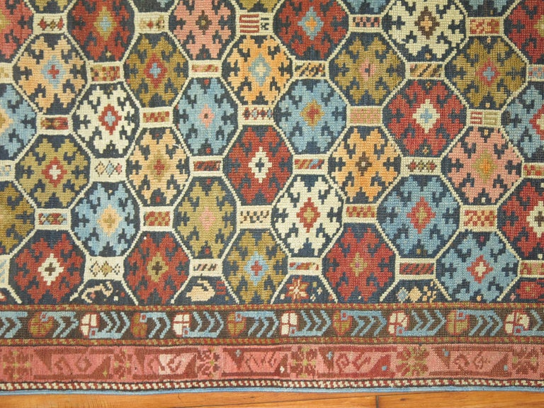 Antique Caucasian Kuba Rug In Good Condition For Sale In New York, NY