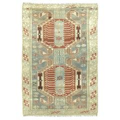 Antique Caucasian Lenkoran Rug
