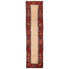 Antique Caucasian Moghan Runner Rug