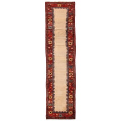 "Antique Caucasian Moghan Runner Rug. Size: 3' 1"" x 12' 7"" (0.94 m x 3.84 m)"