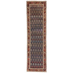 Antique Caucasian Shirvan Runner with Boteh Pattern and Modern Federal Style
