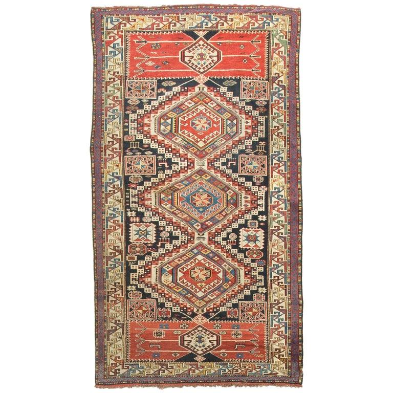 Caucasian Kilim Rug: Antique Caucasian Shirvan Rug, Circa 1890 For Sale At 1stdibs