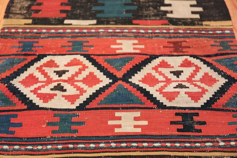 Hand-Knotted Antique Caucasian Shirvan Rug For Sale