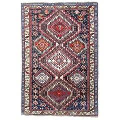 Antique Caucasian Shirvan Rug, Geometric Oriental Rug