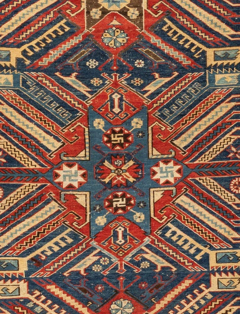Soumak is a tapestry technique of weaving strong and decorative textiles used as rugs and domestic bags. It is a type of flat-weave, somewhat resembling but stronger and thicker than Kilim, with a smooth front face and a ragged back, where Kilim is