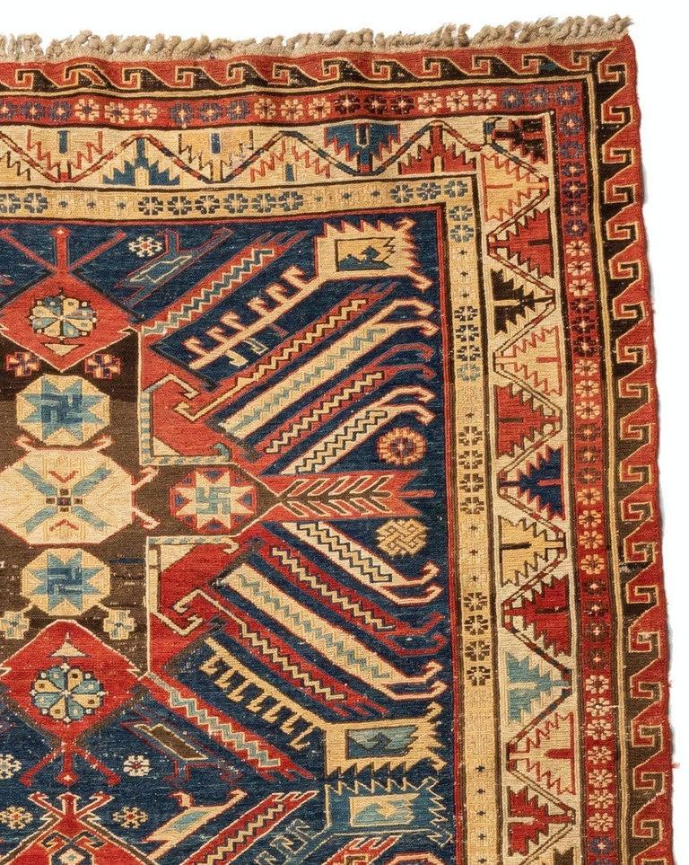 Sumak Antique Caucasian Soumak Carpet, circa 1880-1900 For Sale