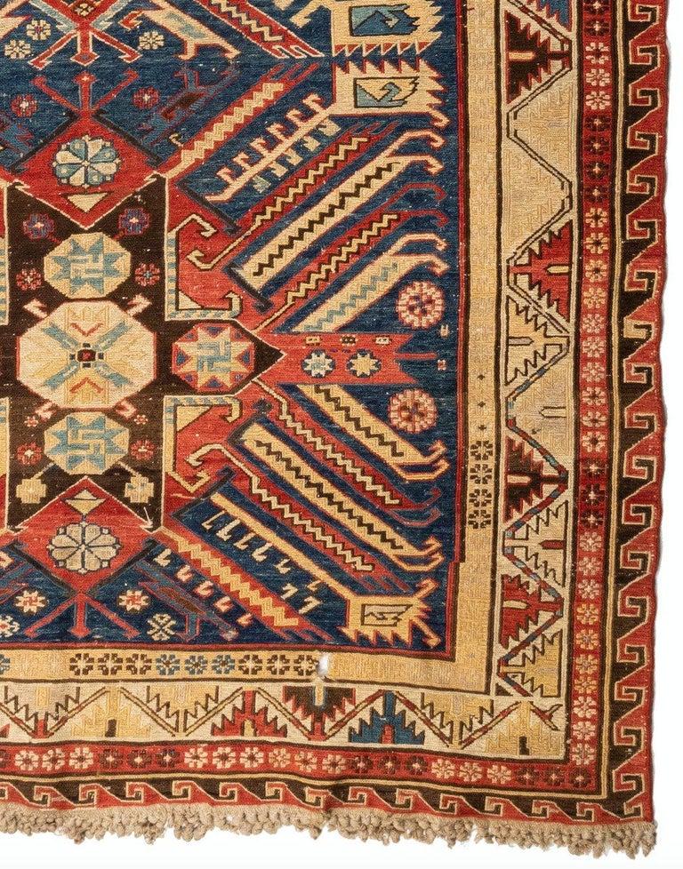 Hand-Woven Antique Caucasian Soumak Carpet, circa 1880-1900 For Sale