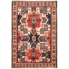 Antique Caucasian Star Kazak Rug