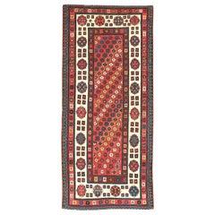 Antique Caucasian Talish Long Rug, 19th Century