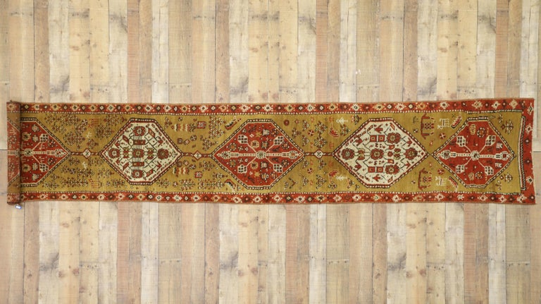 Antique Caucasian Tribal Runner, Hallway Runner For Sale 3