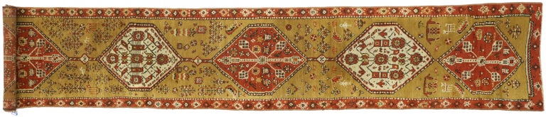 Antique Caucasian Tribal Runner, Hallway Runner For Sale 4