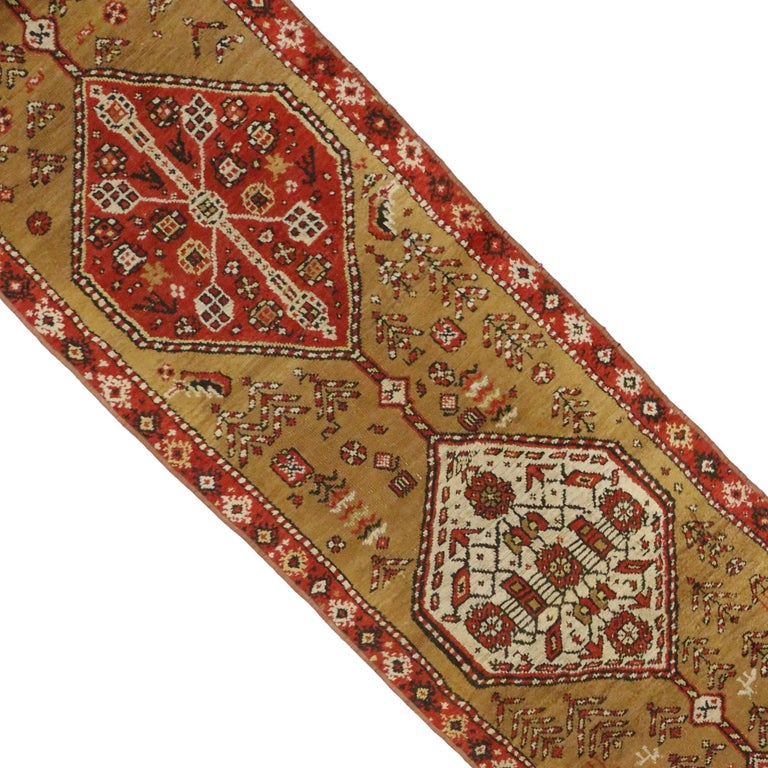 20th Century Antique Caucasian Tribal Runner, Hallway Runner For Sale