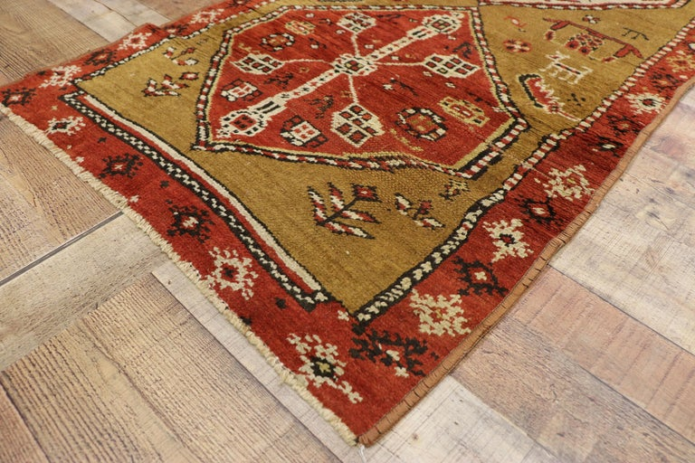 Antique Caucasian Tribal Runner, Hallway Runner For Sale 1