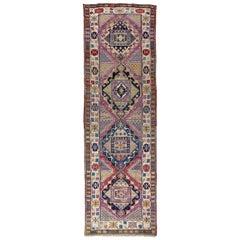 Antique Caucasian Tribal Shirvan Runner Rug