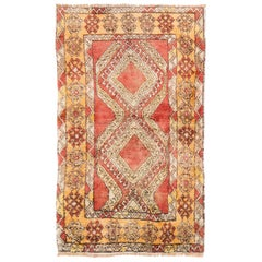 Vintage Hand-knotted Central Anatolian Tulu Rug