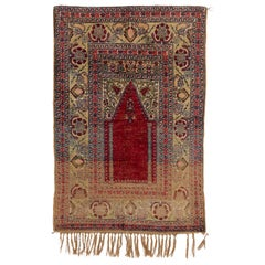 Antique Central Anatolian Konya Silk Rugs, Unusual and One of a Kind