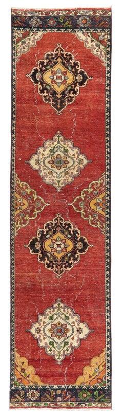 3 x 12 Ft Antique Oushak Wool Runner
