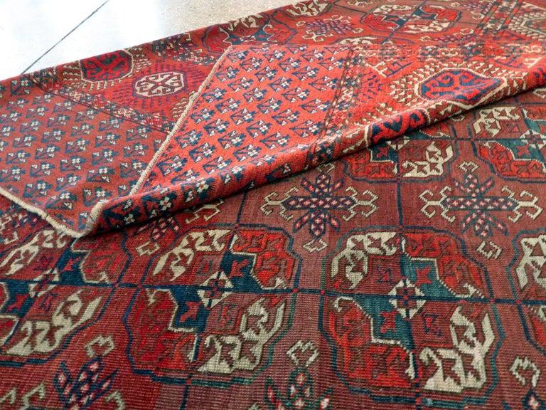 Antique Central Asian Tekke Carpet For Sale 3