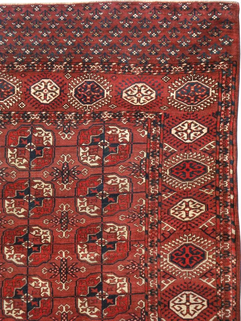 Tribal Antique Central Asian Tekke Carpet For Sale
