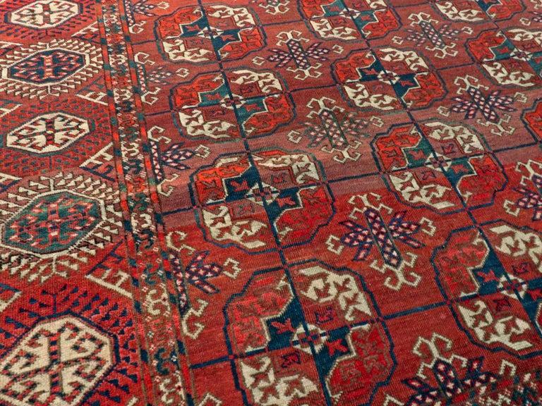 20th Century Antique Central Asian Tekke Carpet For Sale