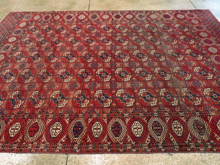 Antique Central Asian Tekke Carpet For Sale 1