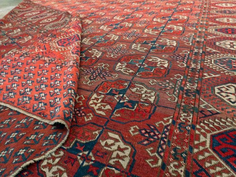 Antique Central Asian Tekke Carpet For Sale 2
