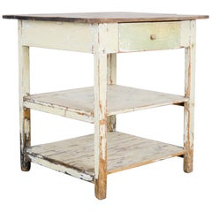 Antique Central European Wooden Side Table