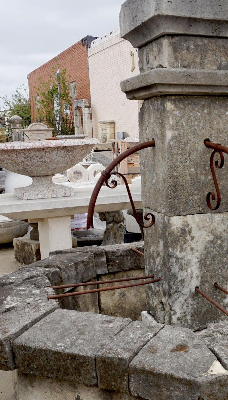 Antique Central Fountain, Four Spout, 19th Century In Good Condition For Sale In Dallas, TX