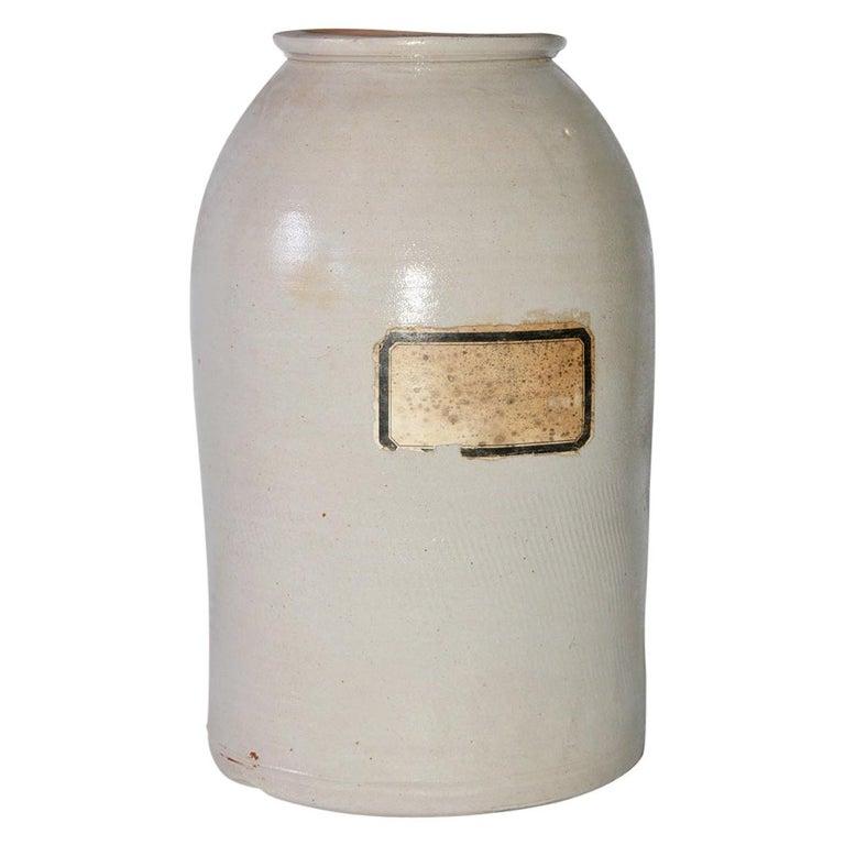 Antique Ceramic Apothecary Jar For Sale