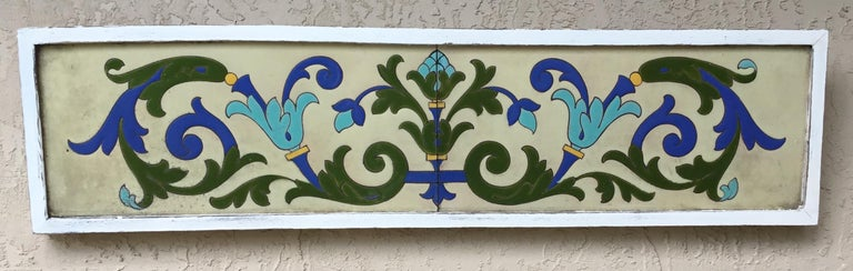 Large Antique Ceramic French Wall Hanging For Sale 8
