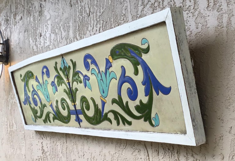 Large Antique Ceramic French Wall Hanging For Sale 11