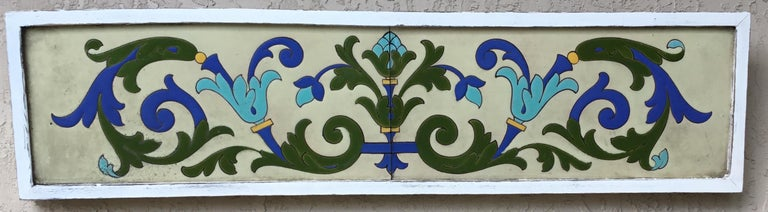 Large Antique Ceramic French Wall Hanging For Sale 12