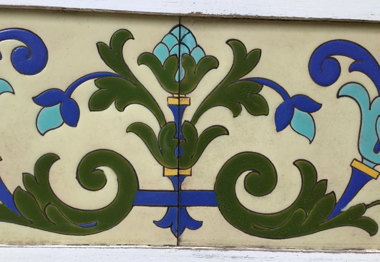 Mid-20th Century Large Antique Ceramic French Wall Hanging For Sale